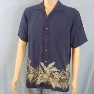 Nautica Men's Hawaiian Silk Shirt